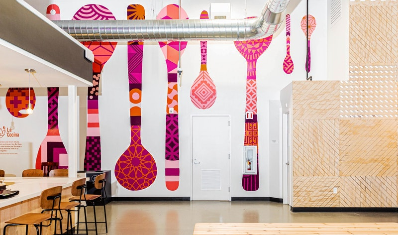 Office LaCocina Marketplace Spoon Mural