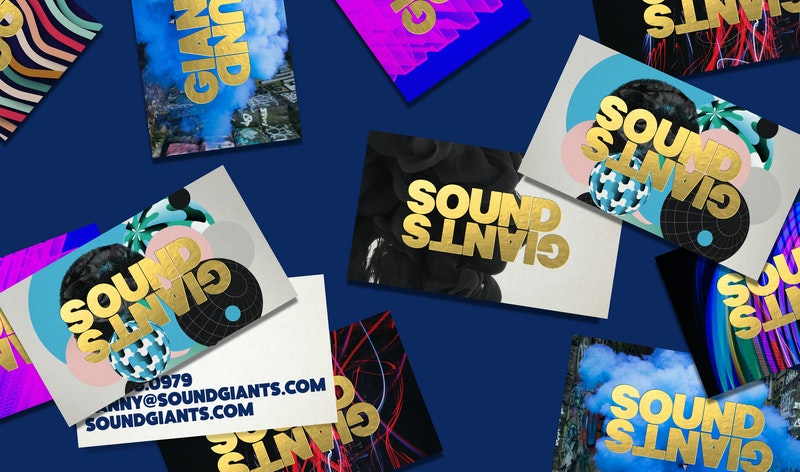 Office SoundGiants Business Cards