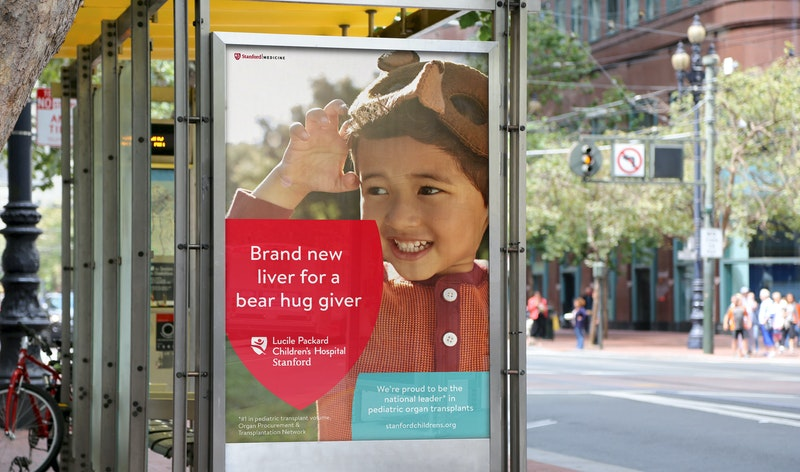 Office Stanford Childrens Health Bus Shelter Ad