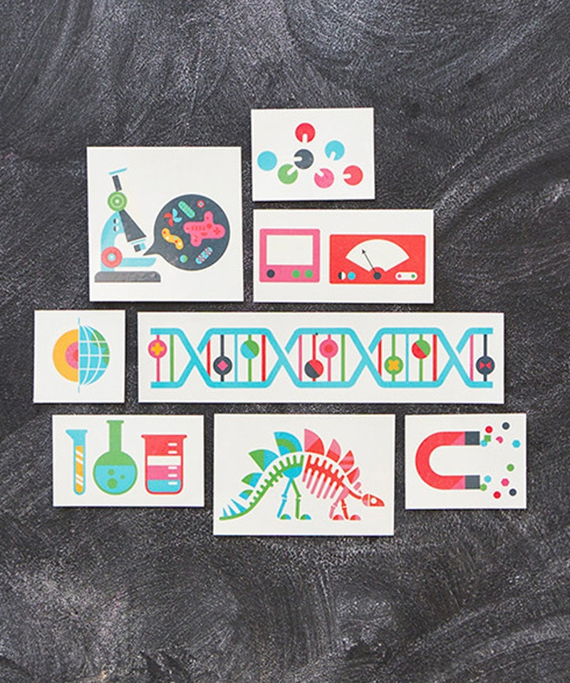 Office WeeSociety Tattly Tattoo - Science
